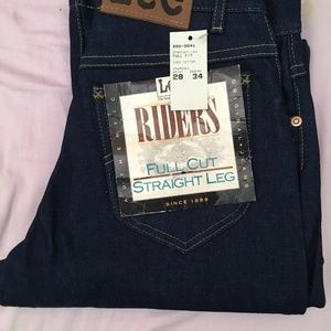 Genuine Lee Riders Unwashed 28W